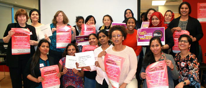 Link to promoting Decent Work for Racialized Women