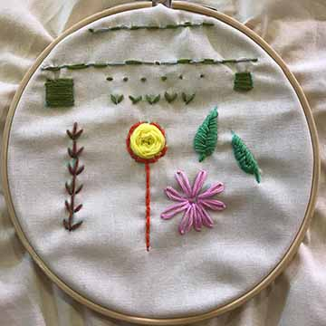 Link to exploring stories through embroidery art